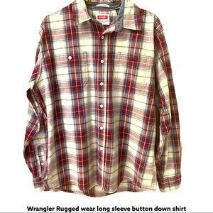 NWOT Mens Wrangler Rugged Wear LongSleeve Shirt